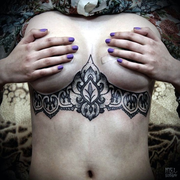 Underboob Tattoos Designs for Women (27)