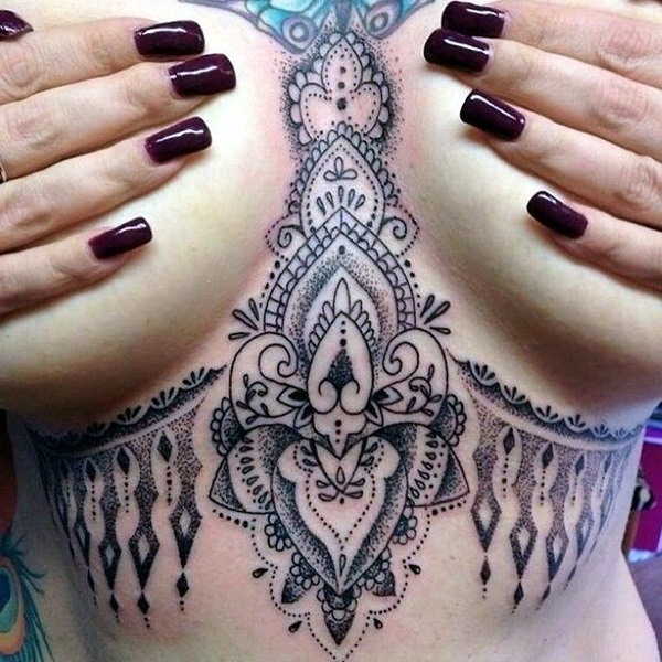 Underboob Tattoos Designs for Women (57)