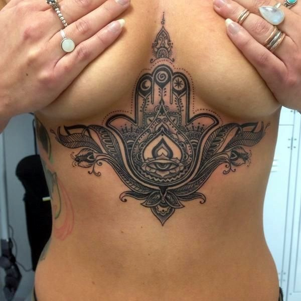 Underboob Tattoos Designs for Women (66)