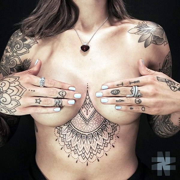 Underboob Tattoos Designs for Women (67)