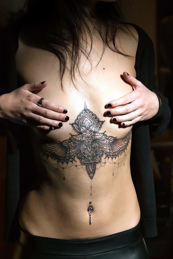 Underboob Tattoos Designs for Women (86)