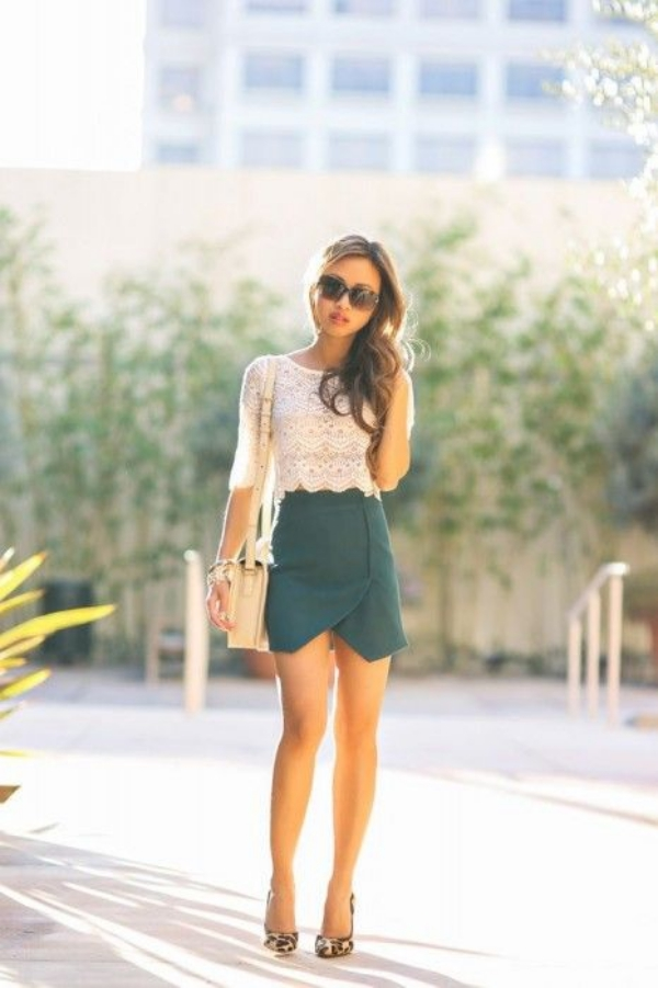 Flattering Skirt Outfits Ideas 10