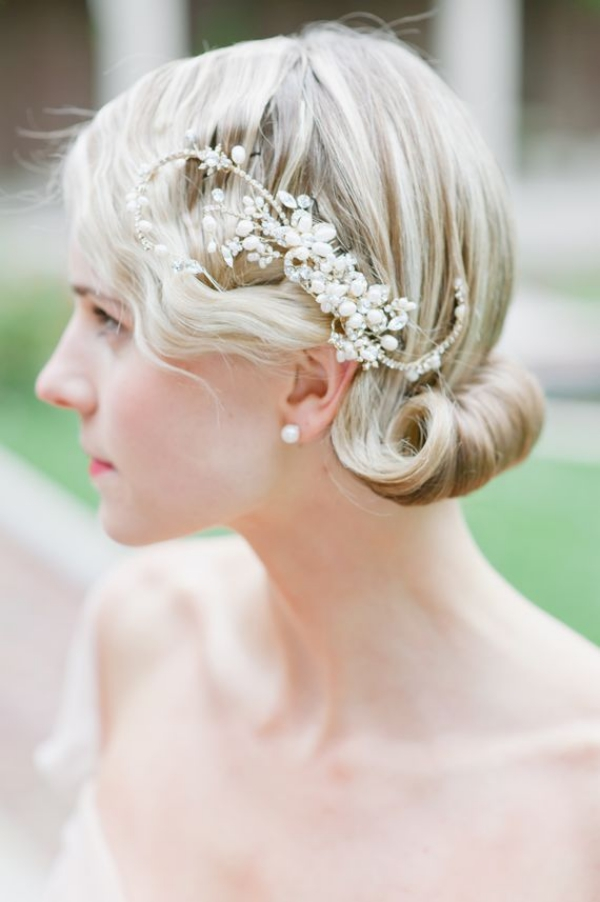 Long and Short Weddings Hairstyles34- Retro wedding inspiration