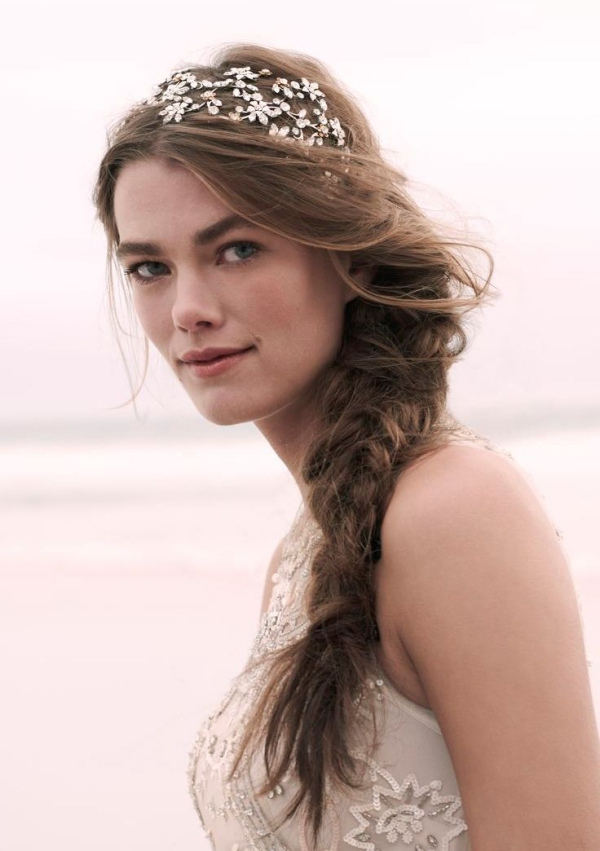 Long and Short Weddings Hairstyles75-bohemian braids & sparkling headpieces