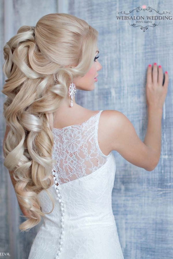 Long and Short Weddings Hairstyles76-Half Up Half Down Wedding Hairstyle