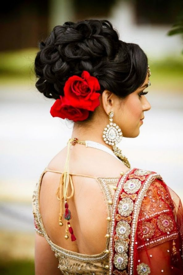 Long and Short Weddings Hairstyles77- Indian Bridal Hairstyle