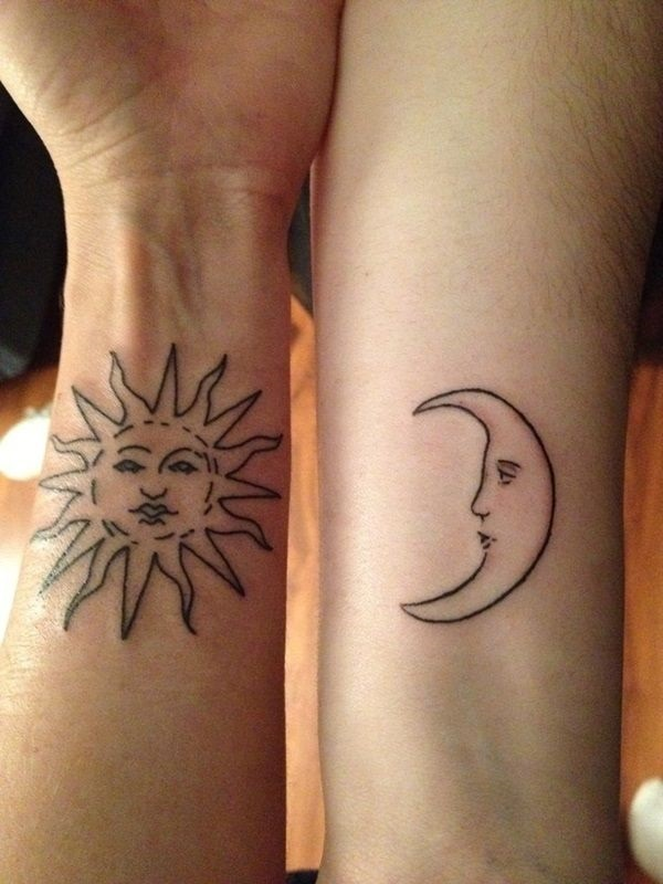 Couple Tattoo Designs Sun And Moon