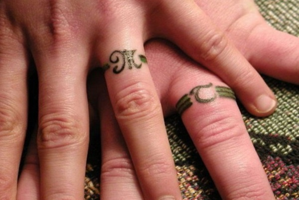 bf9306f4e0311 Matching Couple Tattoo Ideas0271. Your wedding ring is a ...