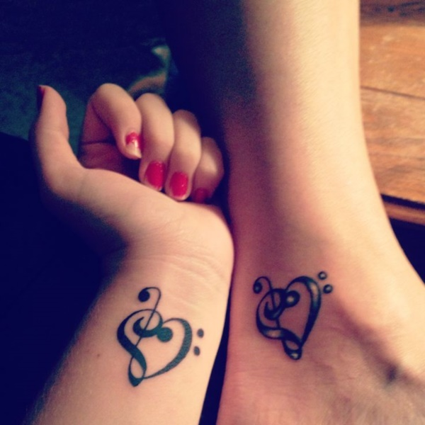 964d9f40e1604 Musical Heart Tattoo Ideas. Matching Couple Tattoo Ideas081