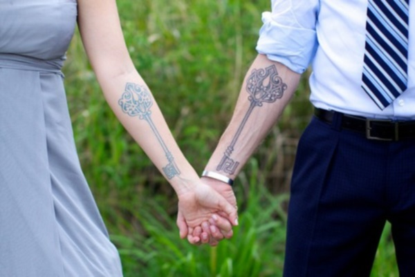 Matching Couple Tattoo Ideas311