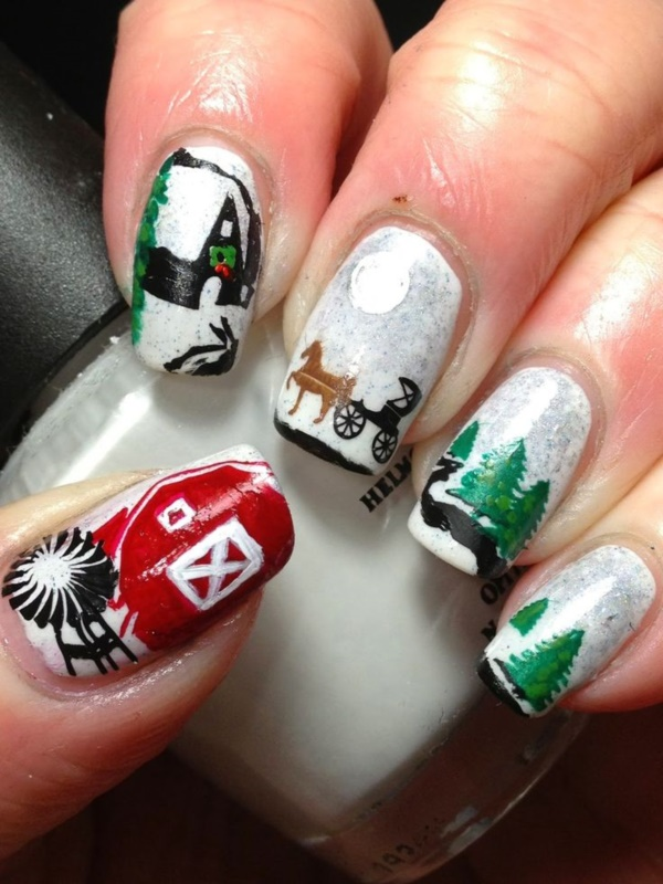 Seasonal Nail art designs and Ideas0181
