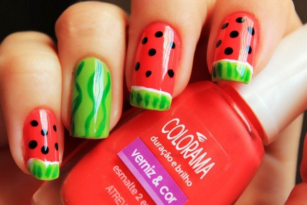 Nail Art Design Green And Red Hireability