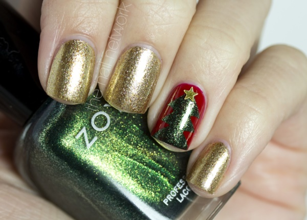 Cute Christmas Nail Art Designs and Ideas0001