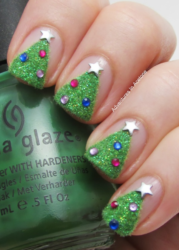 Cute Christmas Nail Art Designs and Ideas0011