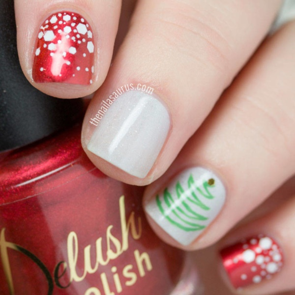 Cute Christmas Nail Art Designs and Ideas0021 - 85 Cute Christmas Nail Art Designs And Ideas To Try In 2016