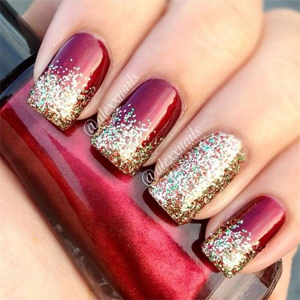 Cute Christmas Acrylic Nail Designs: 85 Cute Christmas Nail Art Designs And Ideas To Try In 2016