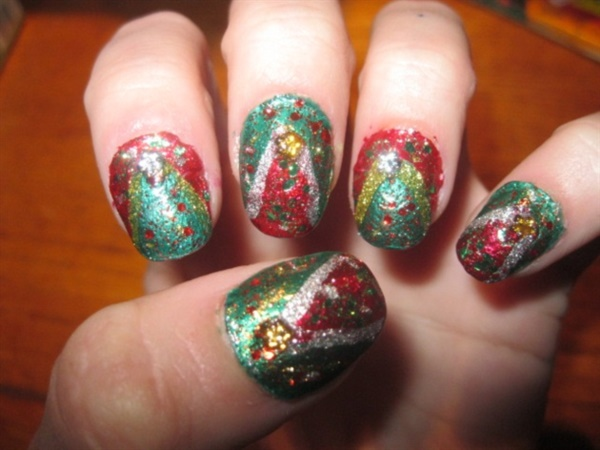 Cute Christmas Nail Art Designs and Ideas0061
