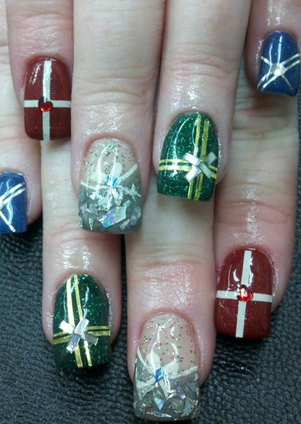 Cute Christmas Nail Art Designs and Ideas0071