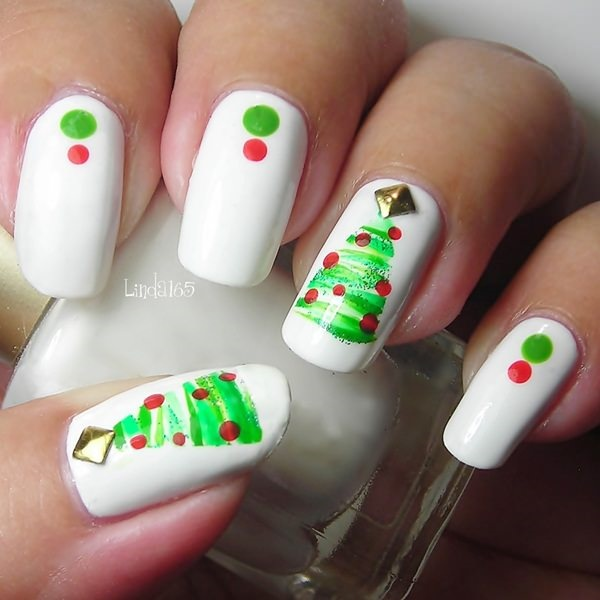 Cute Christmas Nail Art Designs and Ideas0081