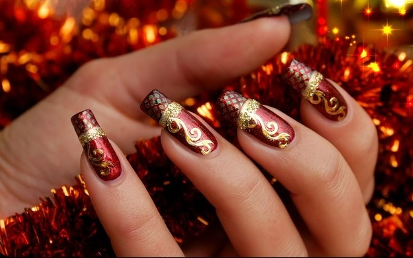Cute Christmas Nail Art Designs and Ideas0111