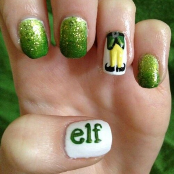 Cute Christmas Nail Art Designs and Ideas0141