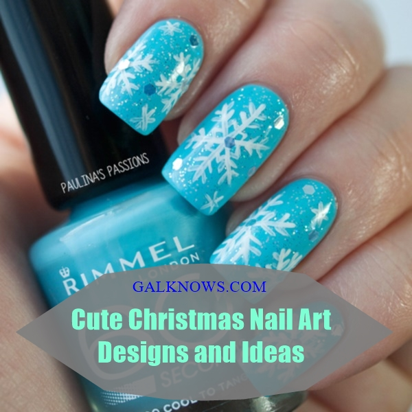 Cute Christmas Nail Art Designs and Ideas0171 - 85 Cute Christmas Nail Art Designs And Ideas To Try In 2016