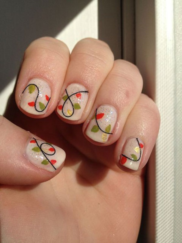 Cute Christmas Nail Art Designs and Ideas0231 - 85 Cute Christmas Nail Art Designs And Ideas To Try In 2016