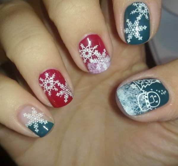 cute christmas nail art designs and ideas0261