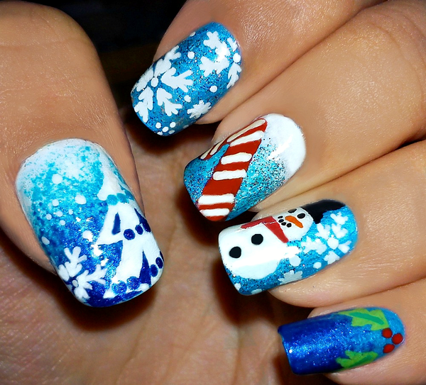Cute Christmas Nail Art Designs and Ideas0291