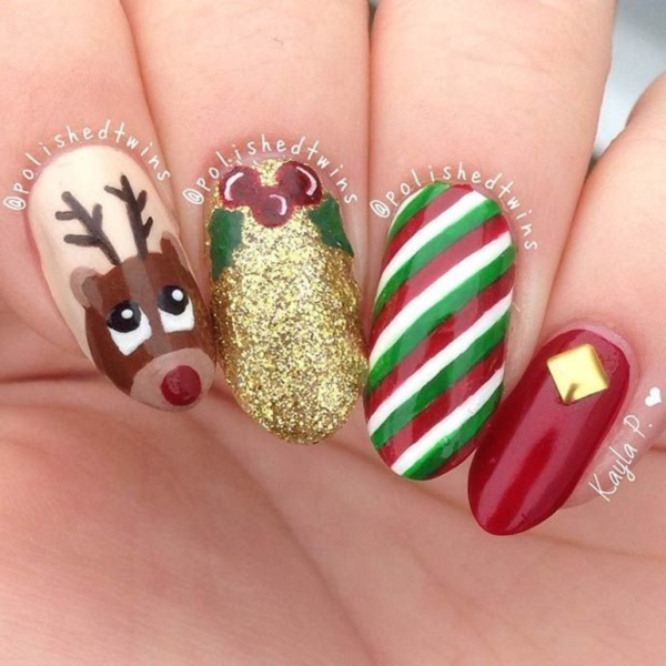 ... Cute Christmas Nail Art Designs and Ideas0301 ... - 85 Cute Christmas Nail Art Designs And Ideas To Try In 2016