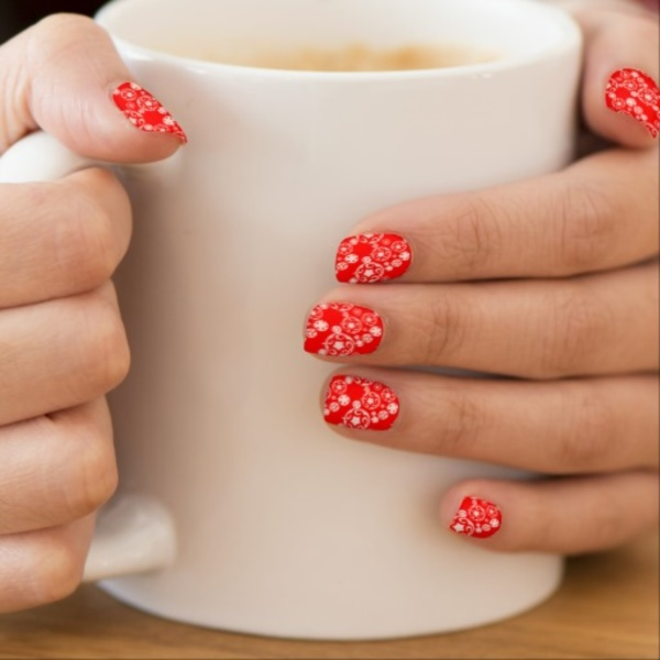cute christmas nail art designs and ideas0391