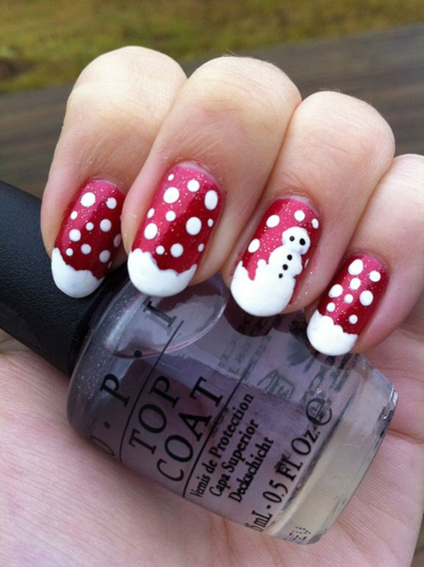 cute christmas nail art designs and ideas0451 - Christmas Nail Decorations