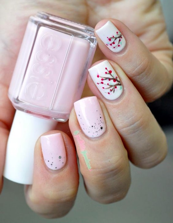 Cute Flower Nail Designs (1)