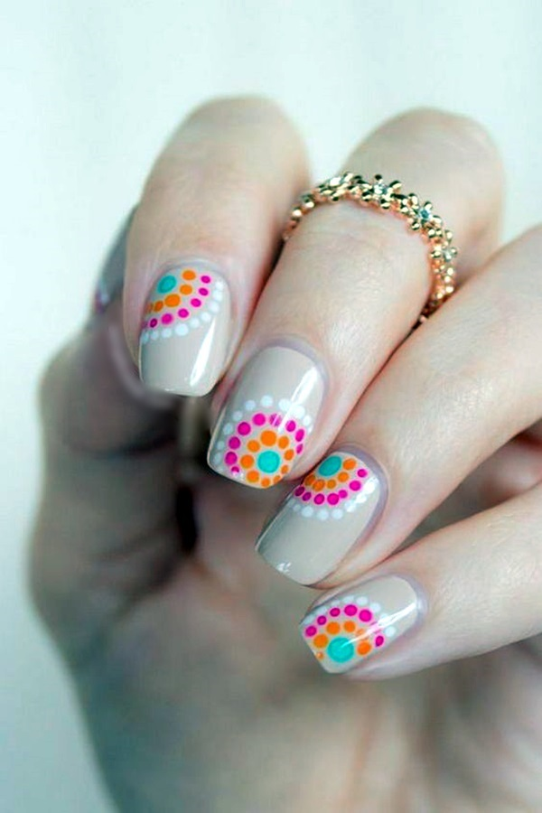 Nail Flower Designs Selol Ink