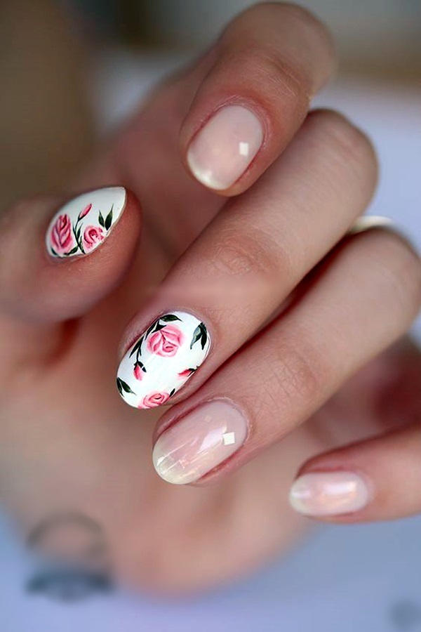 cute flower nail designs 1