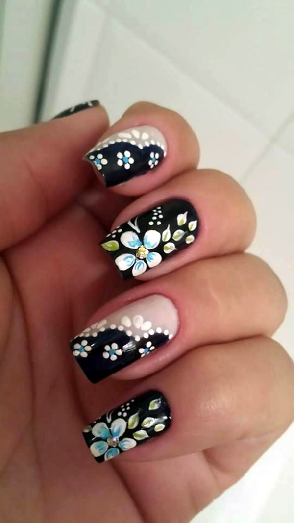 101 cute flower nail designs that re too attractive to handle