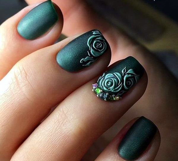 Cute Flower Nail Designs (10) - 101 Cute Flower Nail Designs That're Too Attractive To Handle