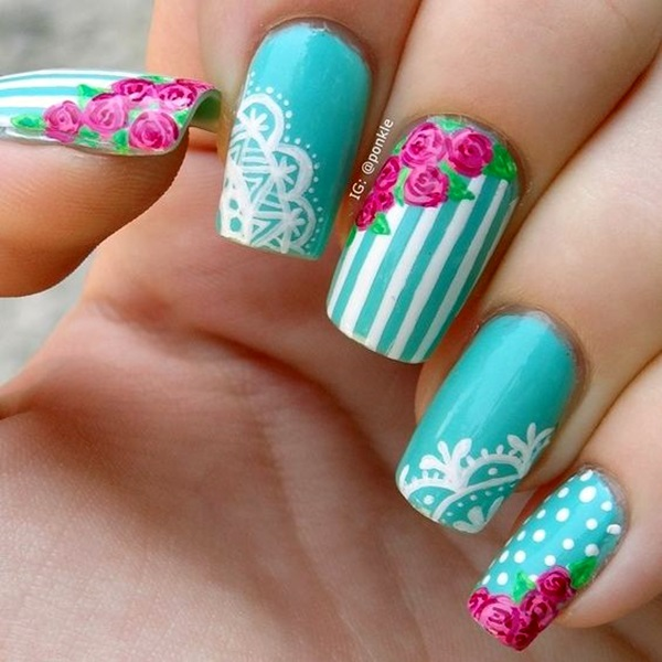 Cute Flower Nail Designs (12)