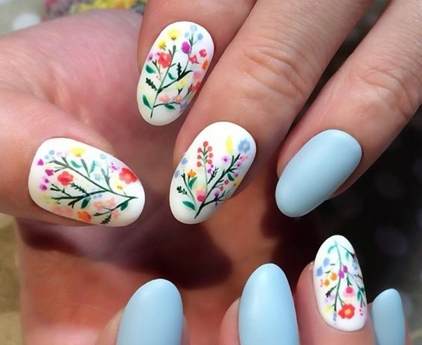 Cute Flower Nail Designs (13)