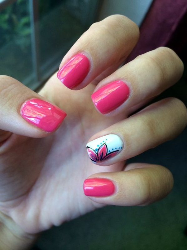Cute Flower Nail Designs (17)