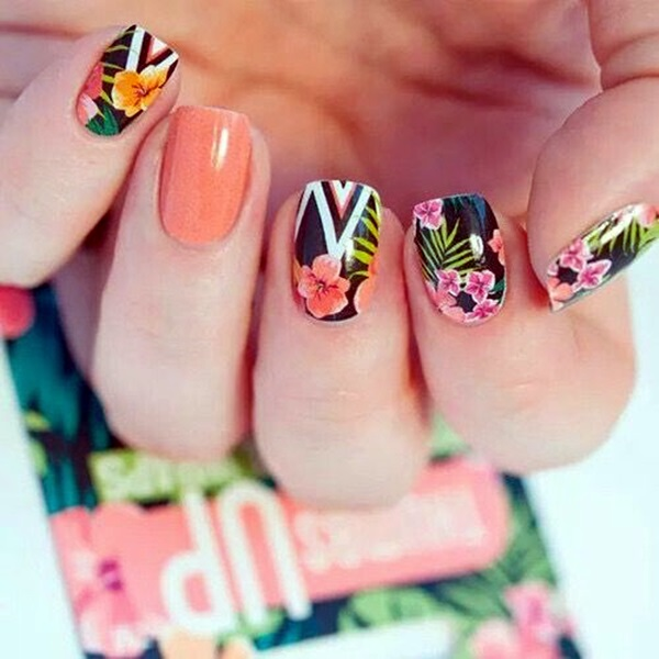 Cute Flower Nail Designs (18)