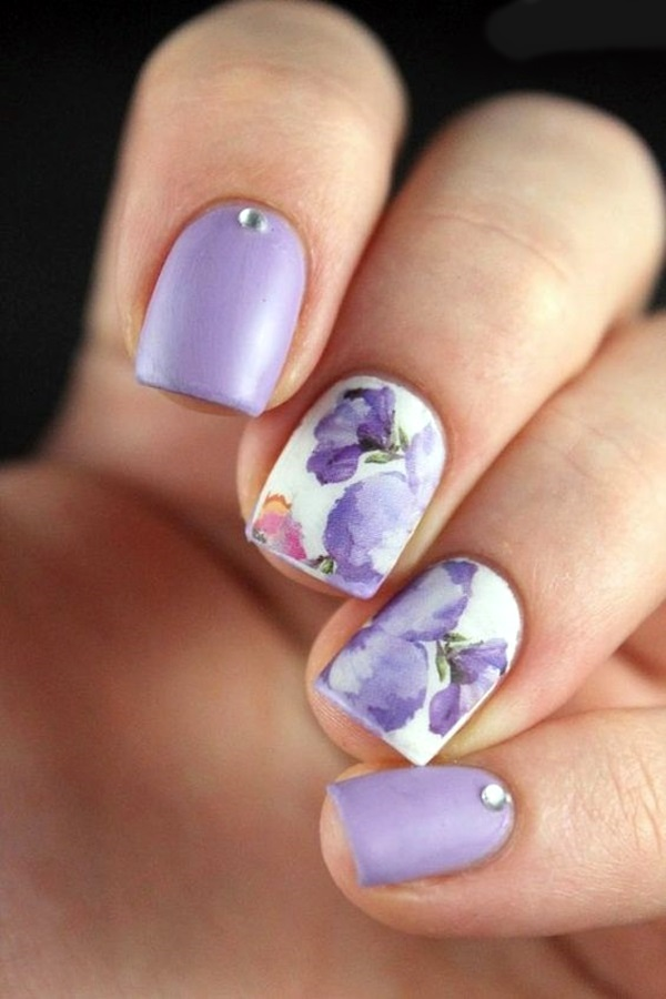 Cute Flower Nail Designs (19)