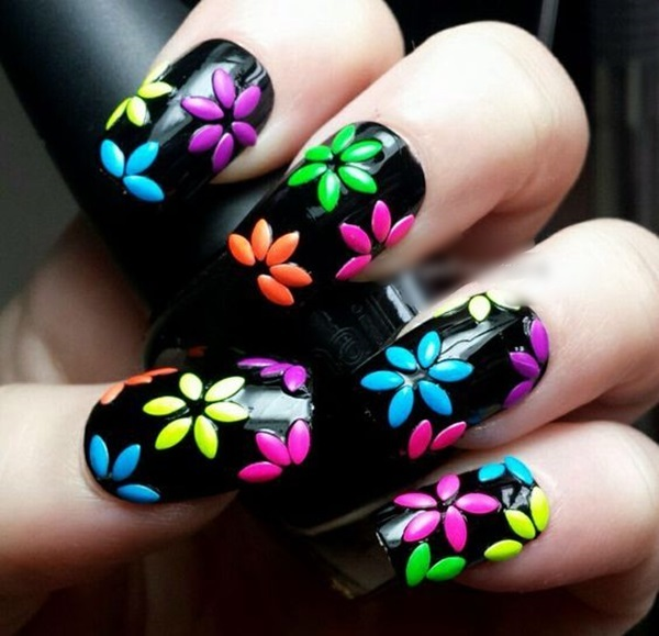 Cute Flower Nail Designs (2) - 101 Cute Flower Nail Designs That're Too Attractive To Handle