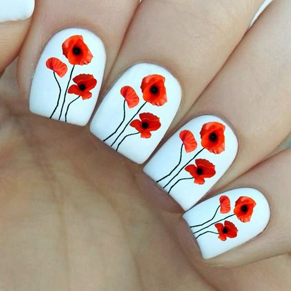Cute Flower Nail Designs (2)