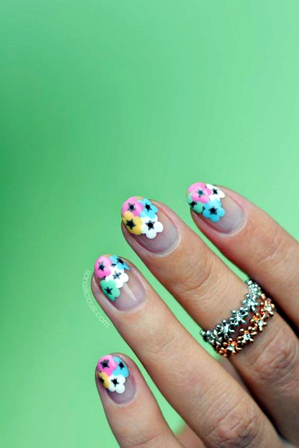 Cute Flower Nail Designs (22)