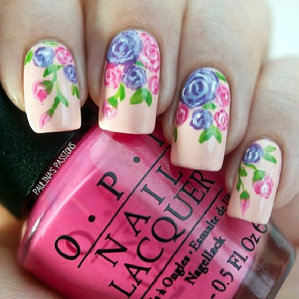 Cute Flower Nail Designs (24)