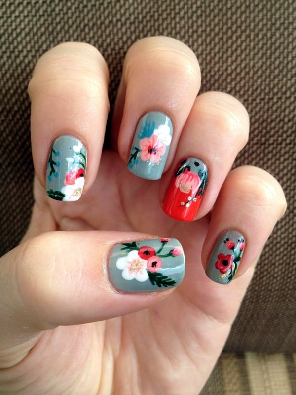 Cute Flower Nail Designs (25)