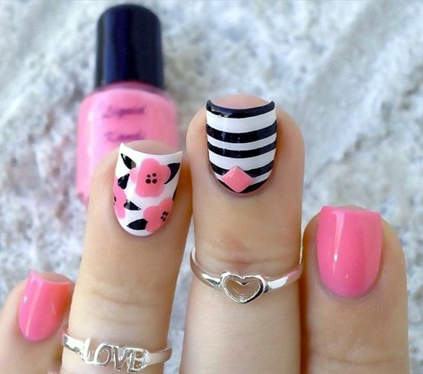 Cute Flower Nail Designs (26)