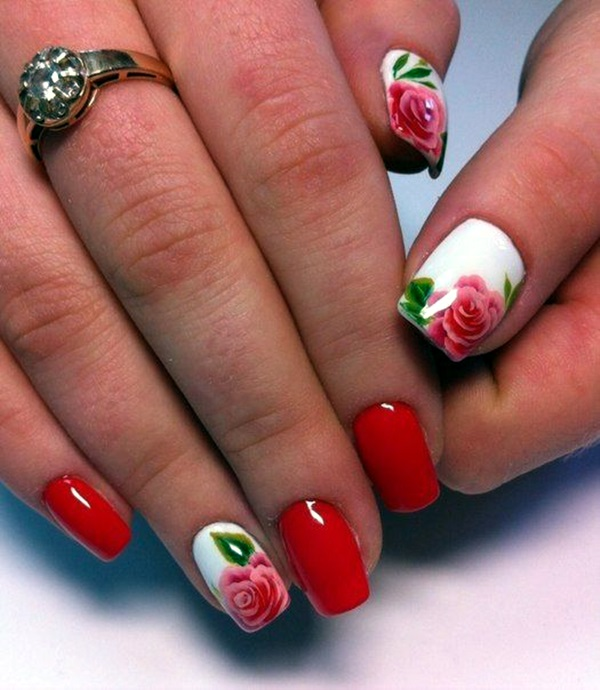 Cute Flower Nail Designs (3) - 101 Cute Flower Nail Designs That're Too Attractive To Handle