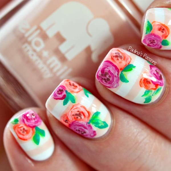 Cute Flower Nail Designs (30)
